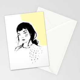 Asian beauty. portrait of a girl Stationery Cards