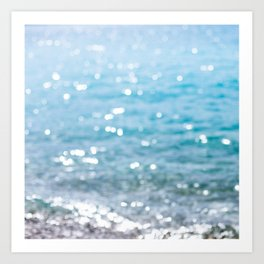 sparkling sea Art Print