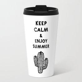 Keep calm & enjoy summer / cactus Travel Mug