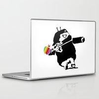 banksy Laptop & iPad Skins featuring Banksy + Android = Bankdroid by Williams Davinchi