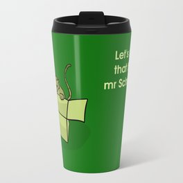 cats and boxes (in green) Travel Mug