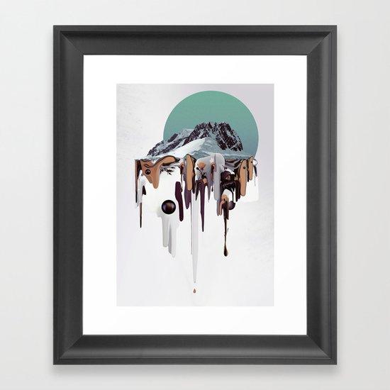 Oozing Mountain Framed Art Print