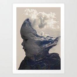 Baby Mountain - Double Exposure Poster Art Print