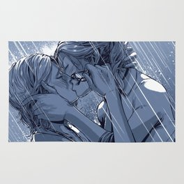 Supercat Kiss in the Rain BLUE Rug