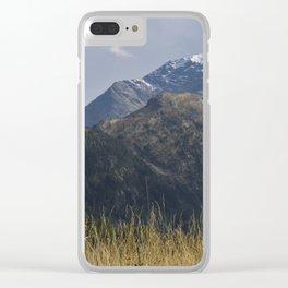 Alpine Mountain Landscape Clear iPhone Case