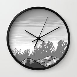 Summit of Monument Mountain Wall Clock