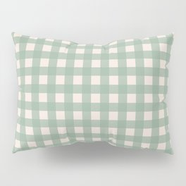 Buffalo Checks Plaid in Sage Green on Cream Pillow Sham