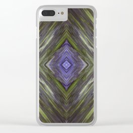 Claret and Moss Waves Clear iPhone Case