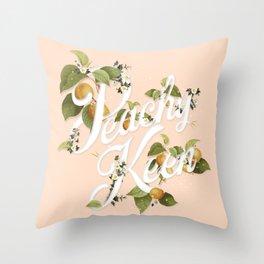 Peachy Keen : Peach Throw Pillow