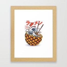 Great vibes ramen Framed Art Print