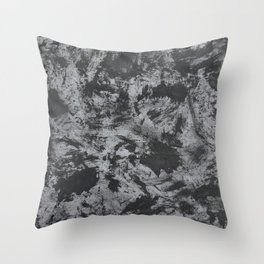 Black Ink on Grey/Gray Background Throw Pillow