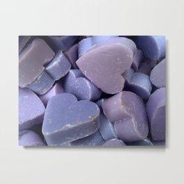 Violet hearts (lavender soap) Metal Print