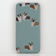 teal corgis iPhone & iPod Skin