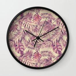 Watercolour Palm Leaf IX Wall Clock