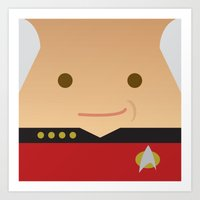picard Art Prints featuring Captain Picard by Sam Del Valle