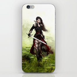 Lady knight - Warrior girl with sword concept art iPhone Skin