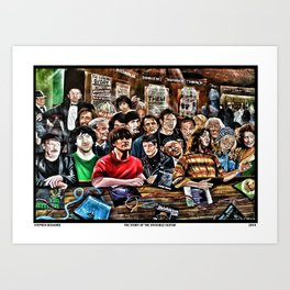The Story of the Invisible Guitar Art Print