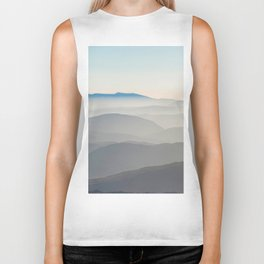 Foggy Mountains in the Distance (Color) Biker Tank
