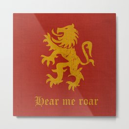 Medieval Fantasy | Lion banner  Metal Print