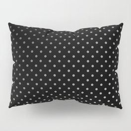 Mini Licorice Black with Faded White Polka Dots Pillow Sham