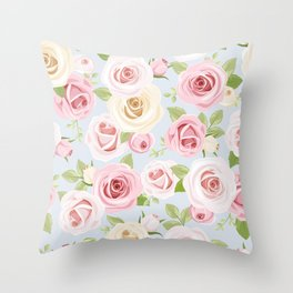 Flowers seamless patterns 21 Throw Pillow