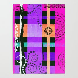 Lace Swirls and Dots Abstract Poster