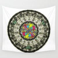 mandela Wall Tapestries featuring dan telly mandela by kumpast