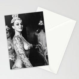 Paris Latin Quarter Chorus Girl Theater black and white photography / photographs Stationery Cards