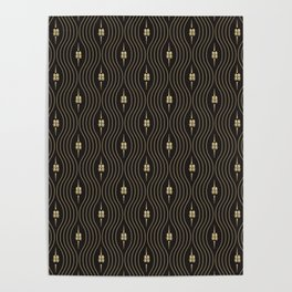 Chinese Double Happiness Symbol  pattern Poster