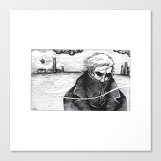 lonely man Canvas Print