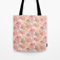 Mid Shells: Pink corals Tote Bag