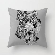 Urban animals Throw Pillow