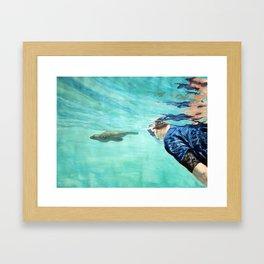 Sea Wolf and Friend Framed Art Print