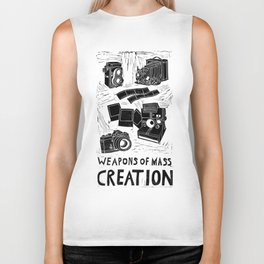 Weapons Of Mass Creation - Photography (blk on brown) Biker Tank