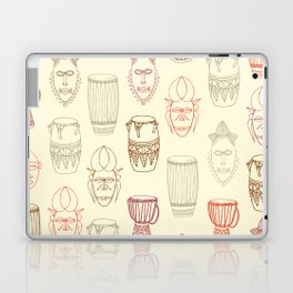 African drums and masks Laptop & iPad Skin