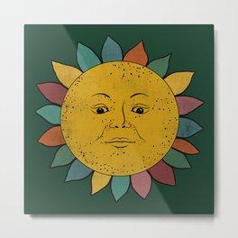 Colorful retro Sun Metal Print