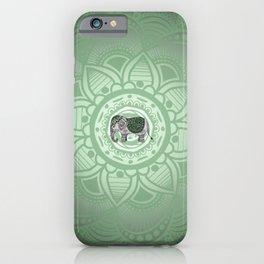 Green Elephant iPhone Case