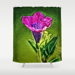 Gentian Passion   Painting  Shower Curtain