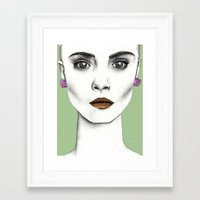 cara Framed Art Prints featuring Cara by Vicky Ink.