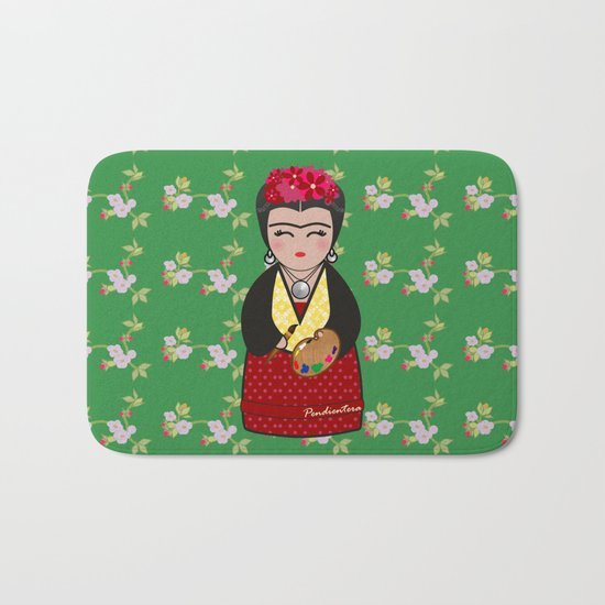 Kokeshi Frida Kahlo Bath Mat