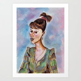 Portrait of a Young Businesswoman Art Print