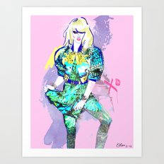 Hedda In Motion XO Art Print