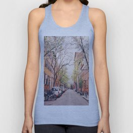 New York City - Springtime in the West Village Unisex Tank Top