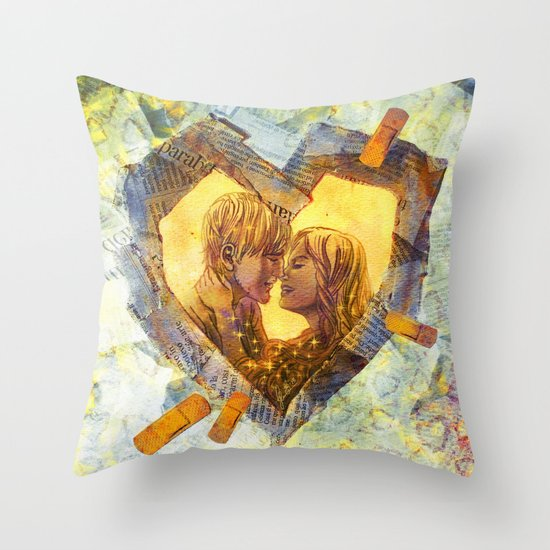 Healing Heart Throw Pillow