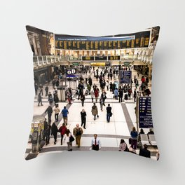 Liverpool Street Station Throw Pillow
