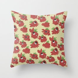 Clawberry All-Over Throw Pillow