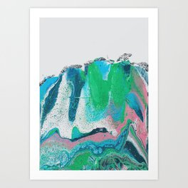 pastel fluid art Art Print