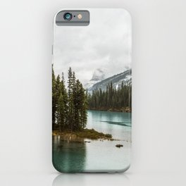 Emerald Spirit Island   Landscape Photography   Maligne Lake   Jasper Alberta iPhone Case