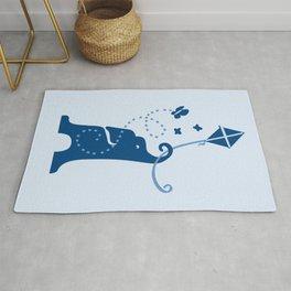 Elephants Fly Kites Rug