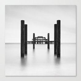 Pier Perspective Canvas Print